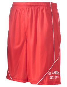 "Saint Anne's School Spartans Men's Pocicharge Mesh Reversible Short, 9"" Inseam"