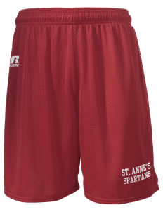 "Saint Anne's School Spartans  Russell Men's Mesh Shorts, 7"" Inseam"