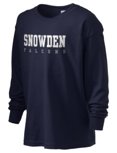 Snowden Elementary School Falcons Kid's 6.1 oz Long Sleeve Ultra Cotton T-Shirt