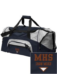 McCorristin Catholic High School Iron Mike Embroidered Colorblock Duffel Bag