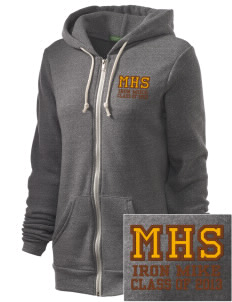 McCorristin Catholic High School Iron Mike Embroidered Alternative Unisex The Rocky Eco-Fleece Hooded Sweatshirt