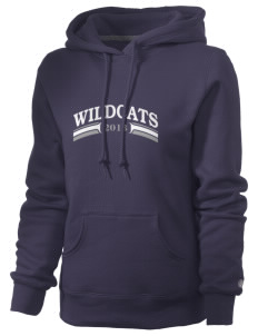St. Nicholas of Tolentine High School Wildcats Russell Women's Pro Cotton Fleece Hooded Sweatshirt