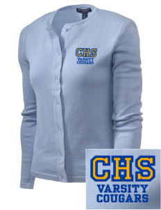 Clovis High School Cougars Embroidered Women's Cardigan Sweater