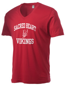 Sacred Heart School Vikings Alternative Men's 3.7 oz Basic V-Neck T-Shirt