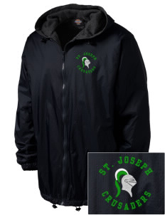 St. Joseph School Crusaders Embroidered Dickies Men's Fleece-Lined Hooded Jacket