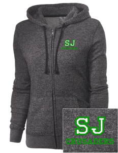 St. Joseph School Crusaders Embroidered Women's Marled Full-Zip Hooded Sweatshirt