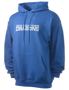 Helena Dyer Elementary School Dragons Men's 7.8 oz Lightweight Hooded Sweatshirt