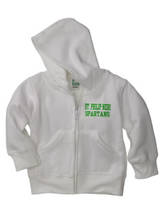 Saint Philip Neri School Spartans Baby Full Zip Hoodie
