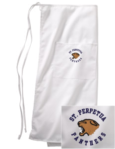 St. Perpetua Catholic School Panthers Embroidered Full Bistro Bib Apron