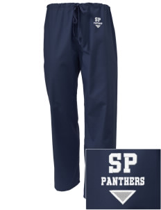 St. Perpetua Catholic School Panthers Embroidered Scrub Pants