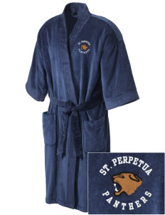 St. Perpetua Catholic School Panthers Embroidered Terry Velour Robe