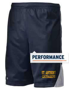 "Saint Anthony School Crusaders Holloway Men's Possession Performance Shorts, 9"" Inseam"