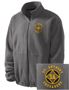 Saint Anthony School Crusaders Embroidered Men's Fleece Jacket
