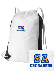 Saint Anthony School Crusaders Embroidered Holloway Home and Away Cinch Bag