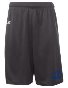 "Saint Anthony School Crusaders  Russell Deluxe Mesh Shorts, 10"" Inseam"