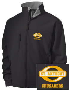 Saint Anthony School Crusaders Embroidered Men's Soft Shell Jacket