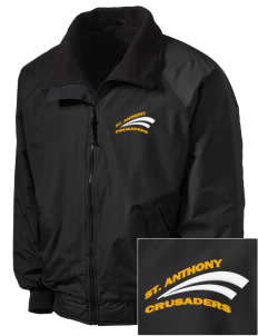 Saint Anthony School Crusaders Embroidered Men's Fleece-Lined Jacket