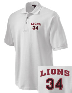 St. Mark School Lions Embroidered Tall Men's Pique Polo