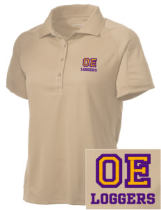 Onalaska Elementary Middle School Loggers Embroidered Women's Polytech Mesh Insert Polo