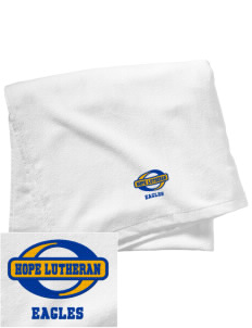 Hope Lutheran School Eagles Embroidered Beach Towel