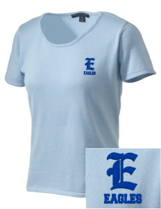 Hope Lutheran School Eagles Embroidered Women's Fine-Gauge Scoop Neck Sweater