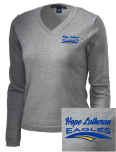 Hope Lutheran School Eagles Embroidered Women's V-Neck Sweater