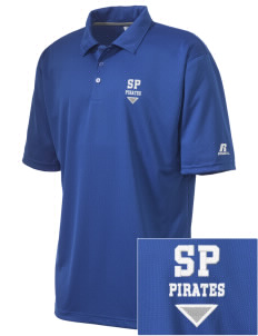 Saint Polycarp Elementary School Pirates Embroidered Russell Coaches Core Polo Shirt