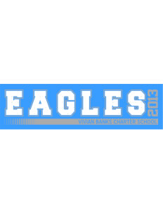 "Vivian Banks Charter School Eagles Bumper Sticker 11"" x 3"""