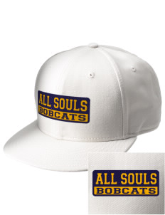 All Souls School Bobcats  Embroidered New Era Flat Bill Snapback Cap