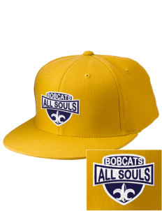 All Souls School Bobcats Embroidered Diamond Series Fitted Cap