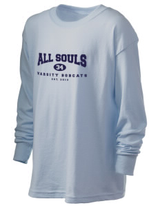 All Souls School Bobcats Kid's 6.1 oz Long Sleeve Ultra Cotton T-Shirt