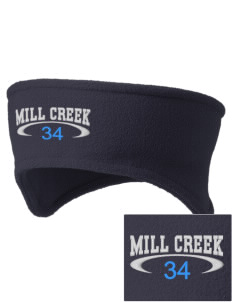 Mill Creek Middle School Bulldogs Embroidered Fleece Headband
