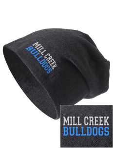 Mill Creek Middle School Bulldogs Embroidered Slouch Beanie