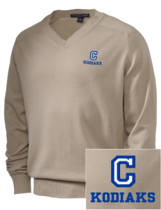Cascade Middle School Kodiaks Embroidered Men's V-Neck Sweater