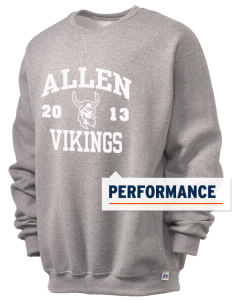 Allen Elementary School Vikings  Russell Men's Dri-Power Crewneck Sweatshirt