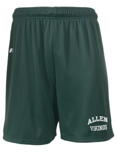 "Allen Elementary School Vikings  Russell Men's Mesh Shorts, 7"" Inseam"