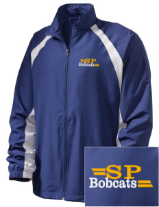 Saint Peter School Bobcats  Embroidered Men's Full Zip Warm Up Jacket