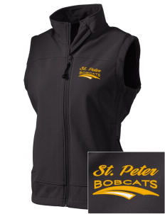 Saint Peter School Bobcats  Embroidered Women's Glacier Soft Shell Vest