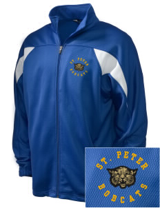 Saint Peter School Bobcats Embroidered Holloway Men's Full-Zip Track Jacket