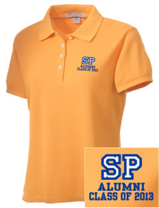 Saint Peter School Bobcats Embroidered Women's Performance Plus Pique Polo