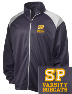 Saint Peter School Bobcats Embroidered Men's Tricot Track Jacket
