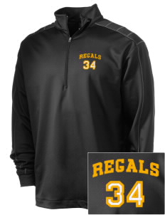 Regina High School Regals Embroidered Nike Men's Golf Dri-Fit 1/2 Zip