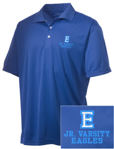 Eckstein Middle School Eagles Embroidered Men's Double Mesh Polo