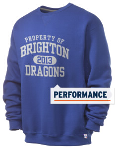 Brighton Elementary School Dragons  Russell Men's Dri-Power Crewneck Sweatshirt