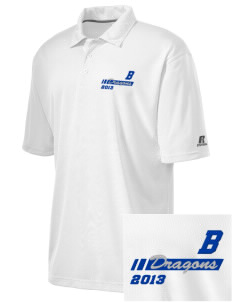 Brighton Elementary School Dragons Embroidered Russell Coaches Core Polo Shirt