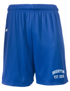 "Brighton Elementary School Dragons  Russell Men's Mesh Shorts, 7"" Inseam"
