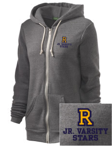 Roxhill Elementary School Stars Embroidered Alternative Unisex The Rocky Eco-Fleece Hooded Sweatshirt