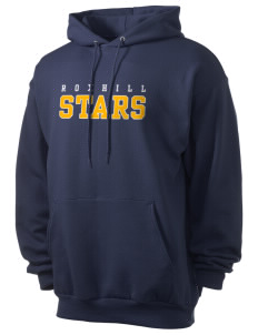 Roxhill Elementary School Stars Men's 7.8 oz Lightweight Hooded Sweatshirt