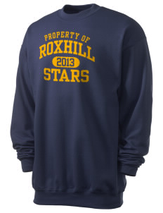 Roxhill Elementary School Stars Men's 7.8 oz Lightweight Crewneck Sweatshirt