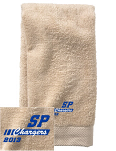 Saint Peter School Chargers  Embroidered Zero Twist Resort Hand Towel
